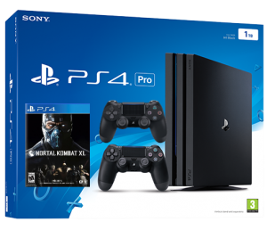 Sony Playstation 4 PRO 1TB с двумя джойстиками + Mortal Kombat XL (PS4)