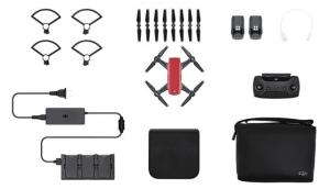 Квадрокоптер DJI Spark (Red) Fly More Combo