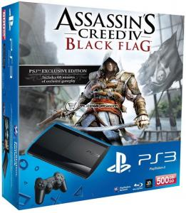 Sony Playstation 3 Super Slim 500Gb (CECH-4208C) + игра Assassin`s Creed IV: Black Flag  (692.15)